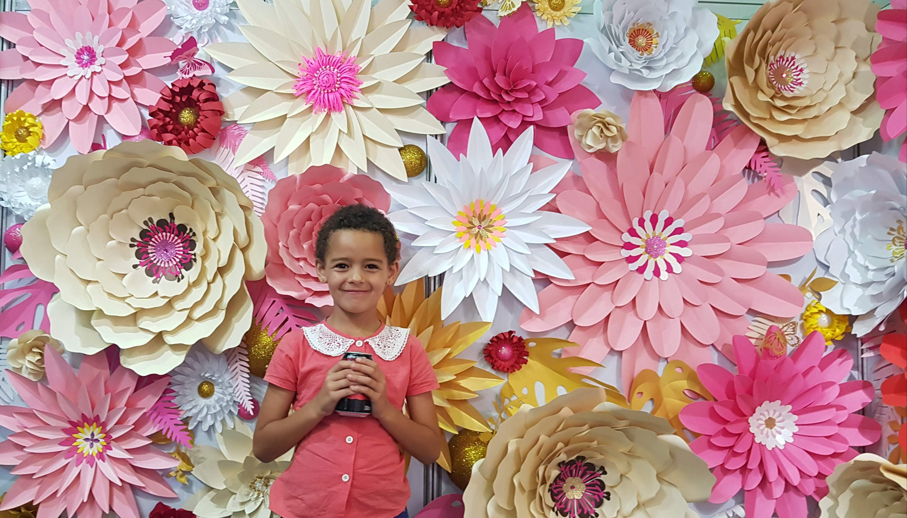 giant paper flowers and decor