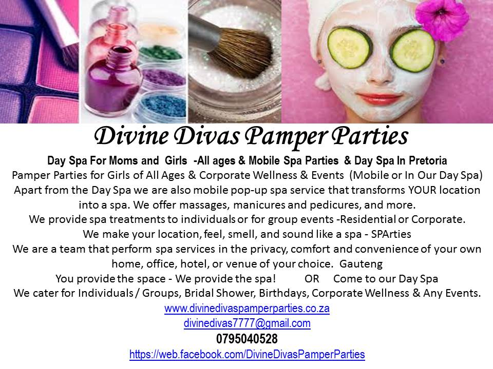 beauty party / pretoria, packages , kids spa , pamper party ideas ...