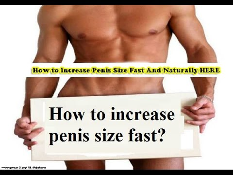 Can you really grow your penis above told