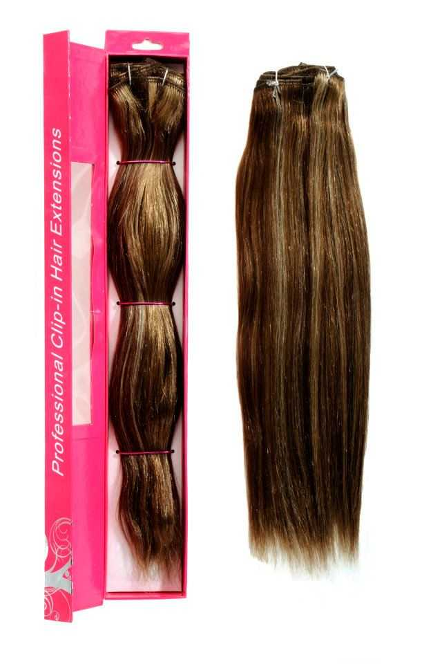 nicciG light brown clip-in hair extensions