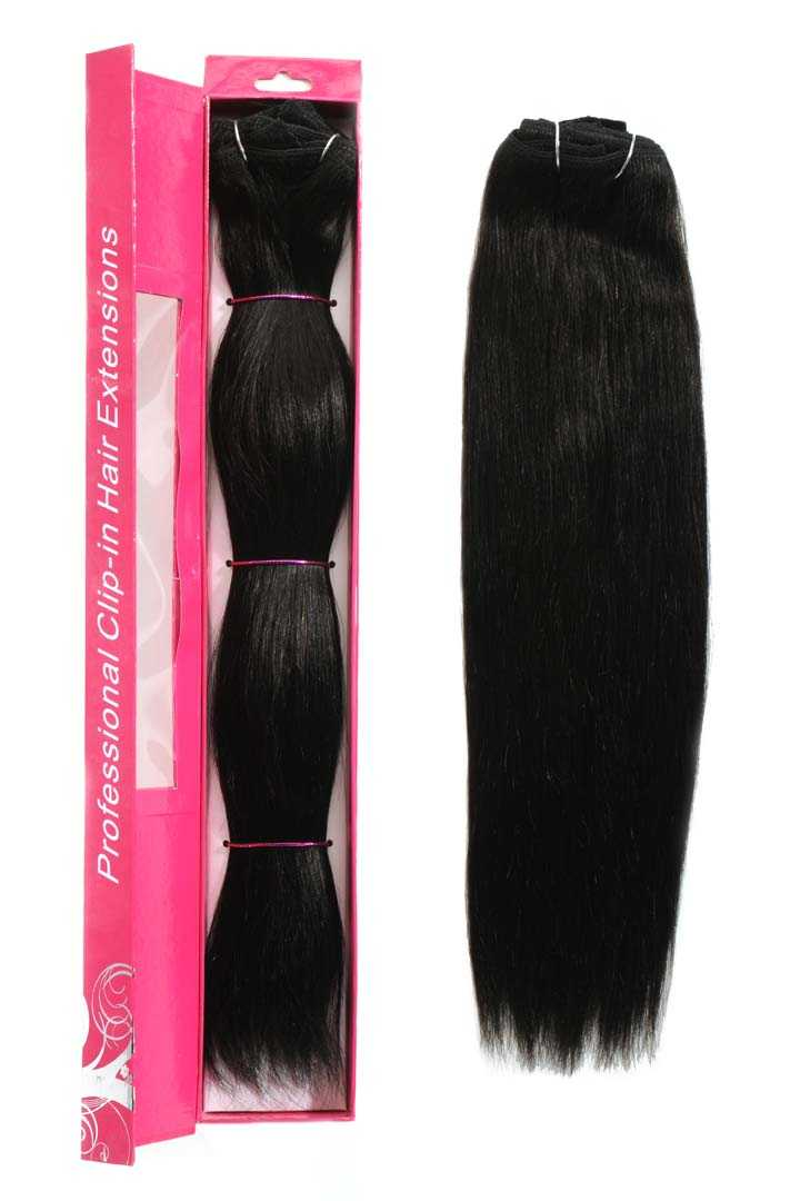 nicciG dark brown clip-in hair extensions