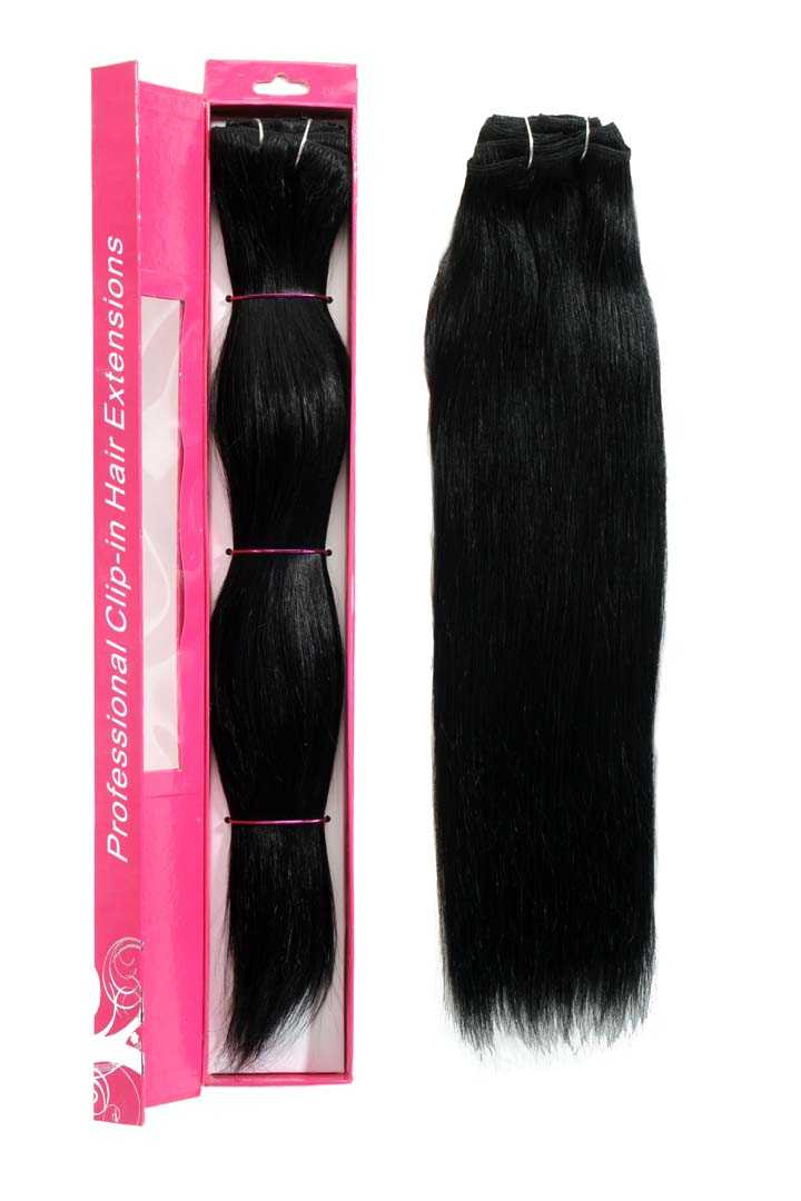 nicciG black clip-in hair extensions