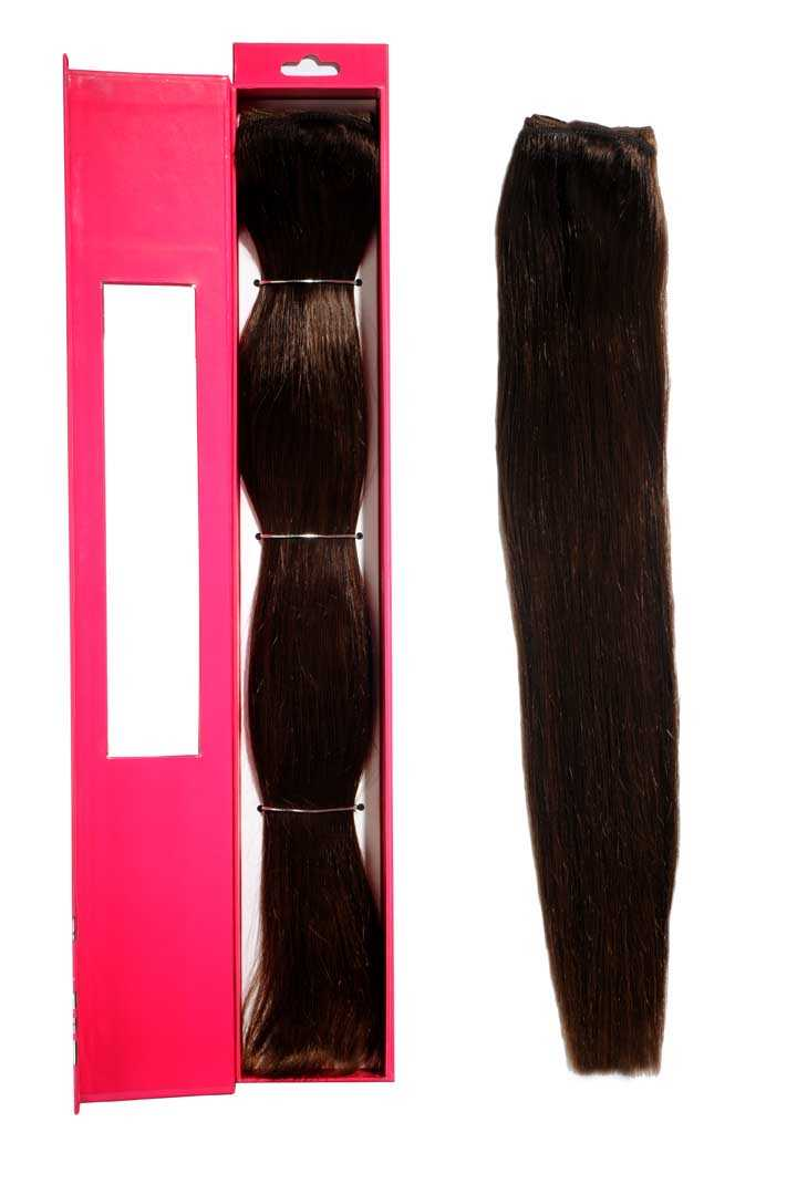 nicciG brown clip-in hair extensions