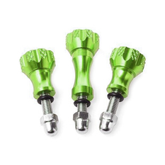 Green Aluminium Screws (3pcs)